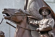 Detail of the Virginia Gettysburg Monument ~ photography by Mike Lynaugh