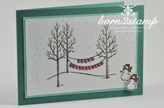 STAMPIN' UP! Weihnachtskarte Weiße Weihnacht