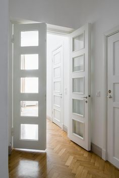 loved these glass paneled interior doors
