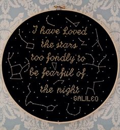 Custom Constellation Cross Stitch