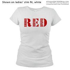 T-Shirt RED #redfriday #remembereveryonedeployed #usmc #marines #egashop #marineparents