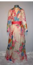 mother of the bride. Late 1960's-Early 1970's Floral Garden Party Dress by Jerry Marsch for Mardi Gras