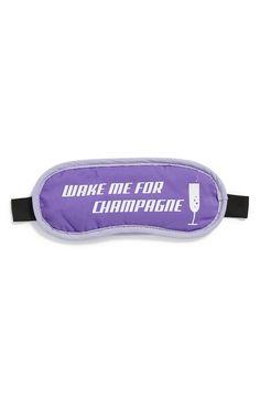 'Wake Me for Champagne' Sleep Mask