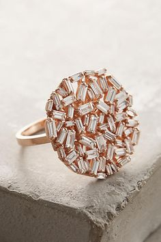 Suzanne Kalan White Diamond Ring in 18k Gold