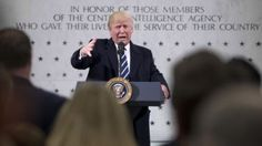 President Donald Trump speaks at the Central Intelligence Agency in Langley, Va., Jan. 21, 2017.