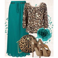 Love the colors but not the heels cause we all know I'd fall flat of my face :)