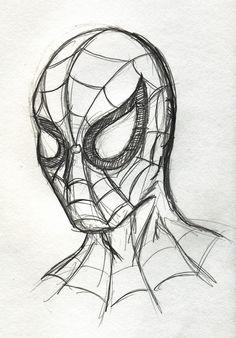 marvel drawings drawing super heroes characters superheroes vynsane draw sketches superhero hero simple spiderman amazing