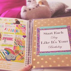 """""""""""Start each day like it's your birthday"""" @erincondren dashboard by @shopmintedsugar! Writing up a review for my blog tonight. ♡ alainaleary.wordpress.com!…"""""""