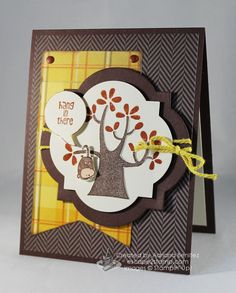 Escape2stamp: Stampin' Up! Nuts About You Hostess stamp set, encouragement, greeting card