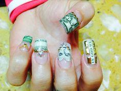 Money nails art @ Ocean Nails & Spa, FWB. FL.