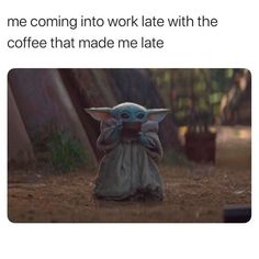 18 Baby Yoda Memes to Make Your Day More Adorable dog funny dog funny funny aesthetic funny hilarious funny sleeping Star Wars Meme, Yoda Meme, Yoda Funny, Funny Minion, Funny Relatable Memes, Funny Jokes, Hilarious, Work Memes, Work Humor