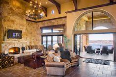 Cedar Street - Lake Travis mediterranean living room