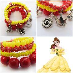 'Belle' bracelet for your little girl! As pretty as princess Belle! #kitzforkids
