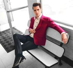 Brendon on a bench