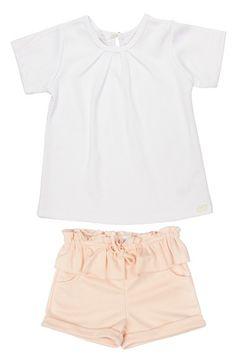KARDASHIAN+KIDS+Top+&+Peplum+Shorts+(Baby+Girls)+available+at+#Nordstrom