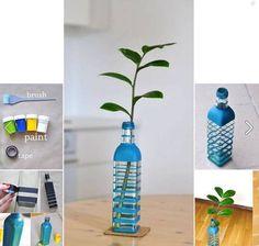 Idea... paint glass bottle vase