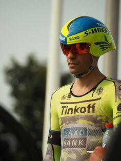 Contador ready to start his 2015 Grand Depart time trial through Utrecht