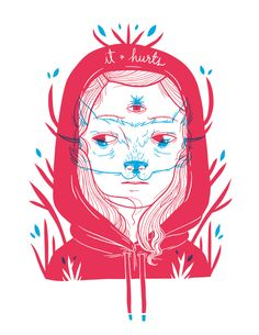 Little Red Riding Hood by Colombian artist Luisa Uribe