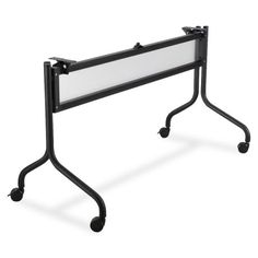 Safco Impromptu 60quot; and 72quot; Mobile Training Table Base - 28quot; Height - Steel - Black