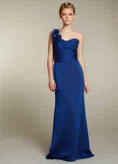 BridesMaids dress In Sapphire Blue & Chiffon Fabric