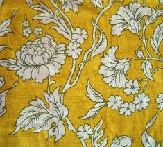 1 yellow floral fabric by thevintagelaundress, via Flickr