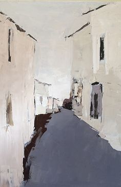 Village Alley by Sandra Pratt Oil ~ 36 x 24