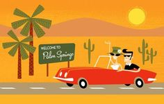 Welcome to Palm Springs by Shag.