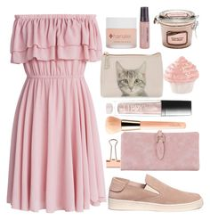 """summer dress"" by monykhaled ❤ liked on Polyvore featuring Chicwish, Luminess Air, Catseye London, Butter London, Guerlain and Pedro García"