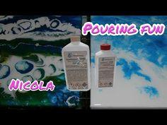 Pouring 44: Resin auftragen. (Ausführliches Toturial auf Deutsch) - YouTube Resin Tutorial, Youtube, Display, Design, Art, Painted Canvas, Paint, Deutsch, Abstract Art