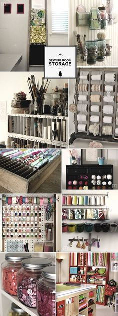 Sewing room storage