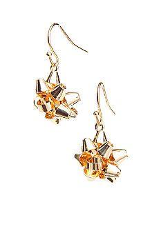 Kim Rogers® Gold Bow Drop Earrings