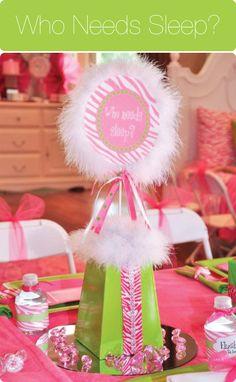 #Pink #Zebra Sleepover Party