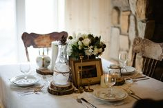 Rustic Fall Cabin Wedding With An Earthy Feel & Vintage Decor | Photograph by Sophie Asselin Photographe  http://www.storyboardwedding.com/late-fall-rustic-cabin-wedding-earthy-feel-and-vintage-decor/