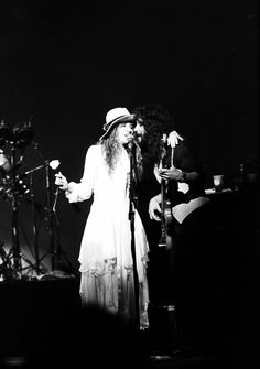 Stevie Nicks 1977 Rare - Walked On Stage @ Kenny Loggins Concert - Custom Print B&W Kodak. Unpublished