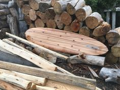 """This is a 7'.6"""" mid-length surfboard available as a custom shape or to be made on a build-your-own wooden surfboard workshop with Burnett Wood Surfboards. Surfboard Shapes, Wooden Surfboard, Surfboards, Build Your Own, Mid Length, Firewood, Surfing, Workshop, Crafts"""