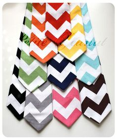 collection of colorful things   Little Guy Necktie Tie CHEVRON Collection 12 by petitepeanut, $13.95