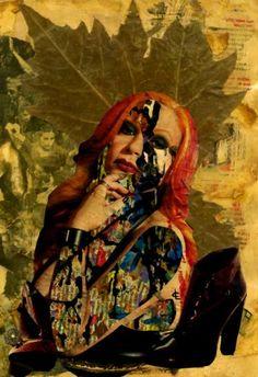 "*-*Saatchi Art Artist CARMEN LUNA; Collage, ""44-Collagemania Carmen Luna. Alaska."" #art"