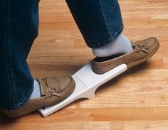 shoe remover, anyone? to not dislocate hips or knees bending down! hope we don't need this, pinning it just in case! Adaptive Equipment, Hip Replacement, Ehlers Danlos Syndrome, Occupational Therapist, Assistive Technology, Elderly Care, Mobiles, Physical Therapy, On Shoes