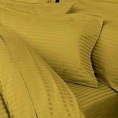 Amazon.com - 1200-Thread-Count Egyptian Cotton 1200TC Sheet Set, California King, Gold Damask Stripe 1200 TC