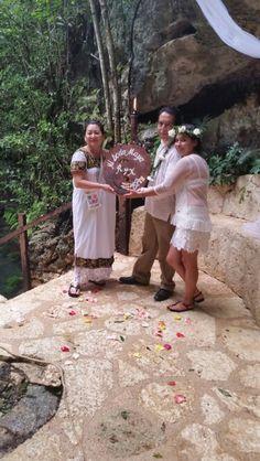Boda Maya cenote zapote Mexico Q.roo