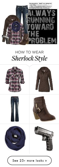 """""""Sherlock Challenge Day 5"""" by echomariejuliet on Polyvore featuring Fat Face and BP."""