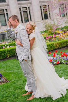 modest wedding dress with half sleeve and a full skirt from alta moda. --(modest bridal gown)--