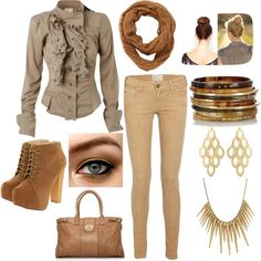 Polyvore Outfits | browns&golds, polyvore outfits - inspiring picture on Favim.com