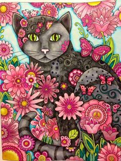 Creative Cats - beautiful coloring page