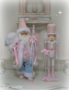 Pastel santa and nutcracker - our latest creations <3 <3
