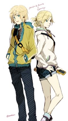 Annie and Armin I don't ship them but they look so cool in those outfits