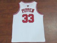 Chicago Bulls NBA Shirt #33 Scottie Pippen White Jersey [F206]