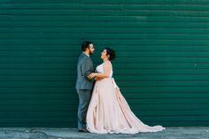 Real Weddings: Meet Ana | Dress: Carol Hannah Kensington with custom tank in 4-ply silk crepe | Photographer: Jessica Oh