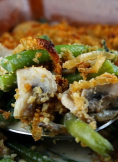 FRESH Green Bean Casserole #recipe for #Thanksgiving
