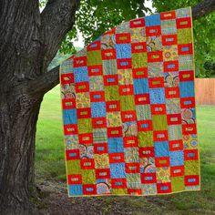 Bohemian Floral Quilt Modern Patchwork Quilt